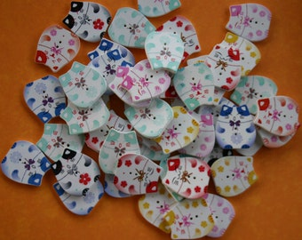 Kitty Cat Wood Buttons - Scrap booking - Sewing - Card making - Craft supplies