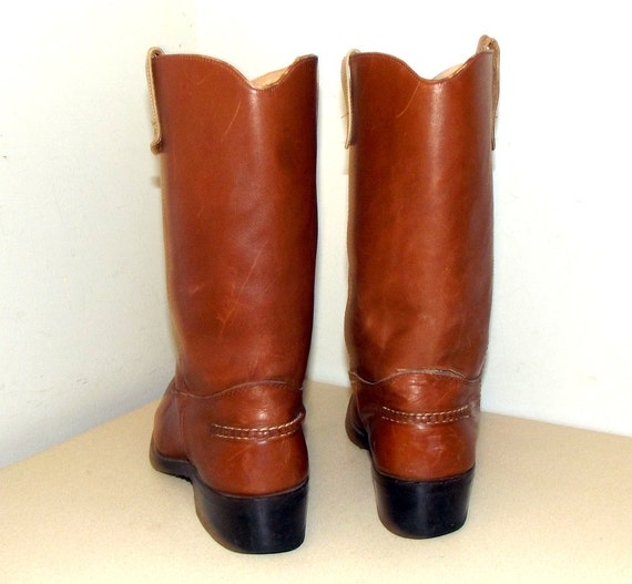 D boots 11 size Brown Double Leather 5 H Cowboy Western nXSZCazX