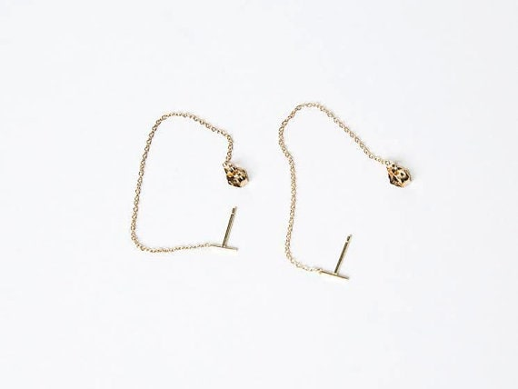 solid earrings tiny line karat listing earring gold il zoom