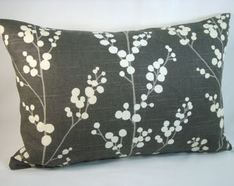 Modern Lumbar Pillow Grey Lumbar Pillow 12x18 Lumbar Pillow Cover