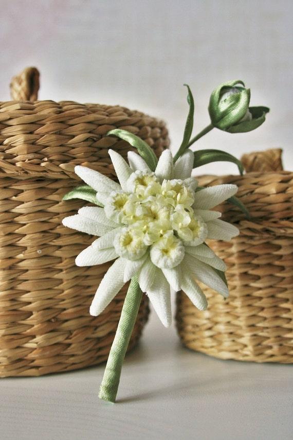 Velvet flowers edelweiss jewelry edelweiss flower jewelry mightylinksfo