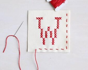 Letter W - Stitch Your Own Sachet Kit