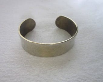 Vintage Polished Brass Plated Wide Cuff Bracelet