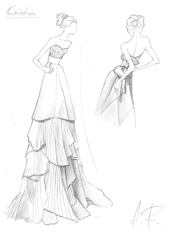 Ungewöhnlich Brautkleid Skizze Galerie - Brautkleider Ideen ...