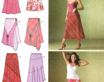 SIMPLICITY 4189 sewing pattern. Skirt pattern.  Size 6-8-10-12-14  New.  Uncut.  Factory folded.