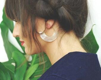 Atabey Fan Capiz Shell Earrings in Goldfill