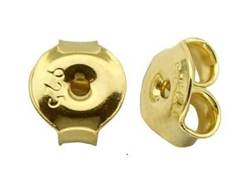 Gold Vermeil over Sterling Silver  Ear Nuts 5 PAIRS