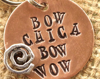 BOw CHICA BOW WOW Pet Tag - id info on the back