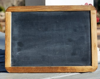 Framed Rustic Chalkboard Sign - Chalkboard Photo Prop - Rustic Wedding Decor - Holiday Pictures - Photography Prop - Real Slate Chalkboards
