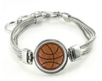 Basketball Bracelet - Gift For Basketball Player - Basketball Jewelry - Basketball Gift - Basketball - Basketball Team Gift - Team Bracelets