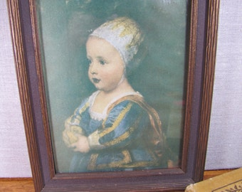 Framed Royal Girl Portrait Print