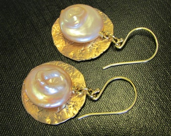 Coin Pearl Earrings, Coin Pearl Drops, Coin Pearl Dangles, Coin Pearl Jewelry, Coin Pearl Jewellery by Josephine's Cotillion