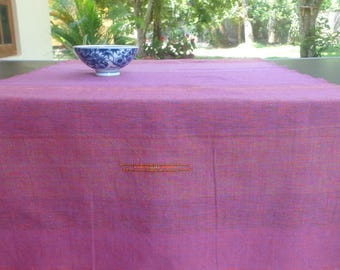 Pink purple runner, table runner, handloom runner, handmade runner, cotton runner
