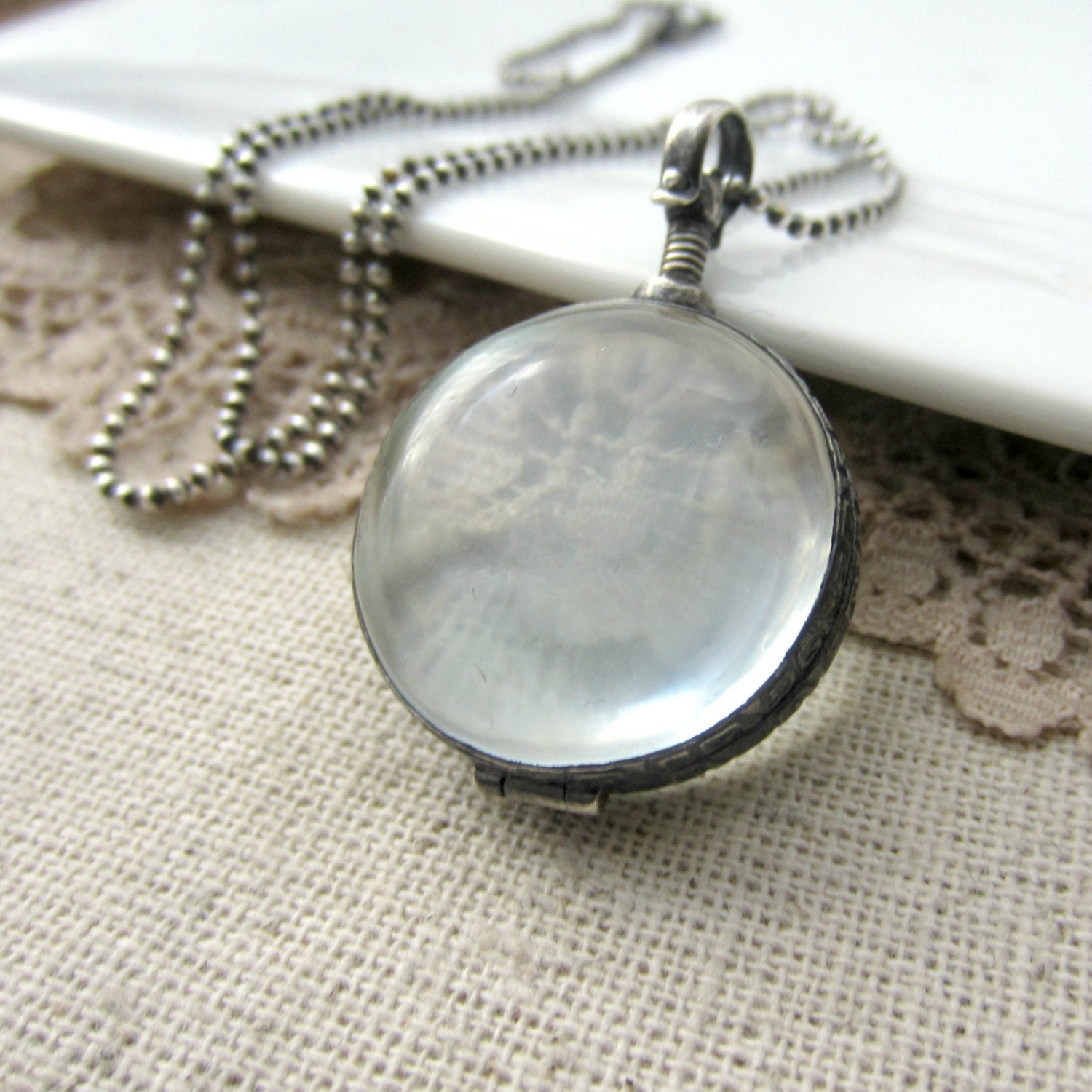 james necklace circle love original locket clear product lauryn charm lockets by laurynjames of