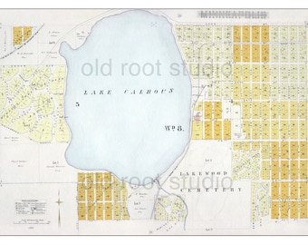 Old minneapolis map Etsy