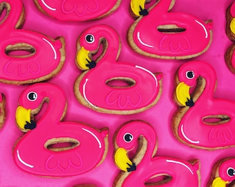 Flamingo floaty Cookies