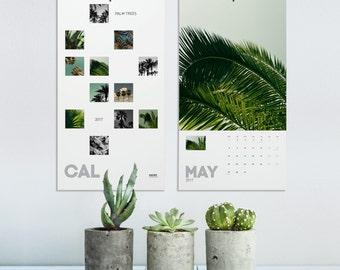 Palm Tree Calendar 2018, Tropical Calendar, Wall Calendars, Nature Photography, Elegant Calendar, Wall Decoration, Office Decor. MGCAL1