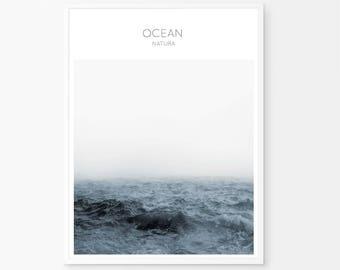 Ocean Water, Waves Photography, Ocean Wave, Printable Large Poster, Ocean Poster, Ocean Waves Photography, Wall Art Prints, Ocean Minimalist