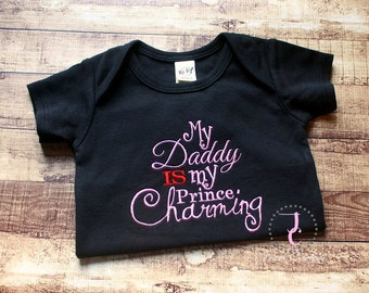 Prince Charming Shirt, Daddy Daughter Shirt, Military Homecoming Shirt, Baby Girl Coming Home Outfit, Daddy Shirt, Daddy To Be, Newborn Girl