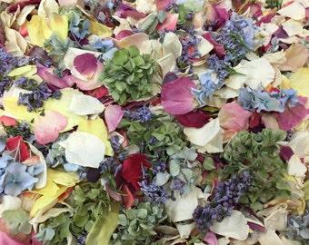 Assorted Flower Petals. 100 Cups. Wedding Petals. Freeze dried Petals. Flower Confetti. Flower Girl. Wedding Decorations.Petal Confetti. USA