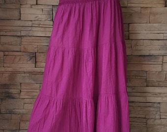 Cotton skirt ,purple Indian light weight cotton skirt