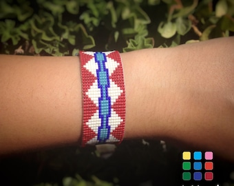 Native American Style Loom Beaded Miyuki Bracelet by Mi Mundo, boho bracelet, hippie style, gift for her, gifts for girlfriend