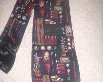Vintage Alynn Golf Shop Necktie