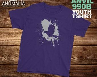 Kids Crow Shirt, raven shirt, crow t-shirt, poetry shirt, crow t shirt, ravens shirt, crow print, goth shirts, death shirt