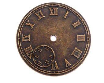 bronze large clock gear steampunk watch dial pendant 42mm
