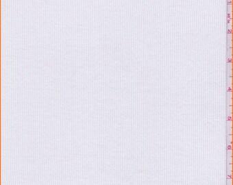 White Rib Knit, Fabric By The Yard