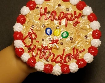 """Birthday Cookie Cake  for  18"""" Dolls (American Girl, Springfield, Our Generation...)"""