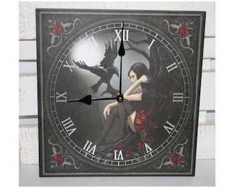 Wall clock Angel and Crow 29 x 29 cm