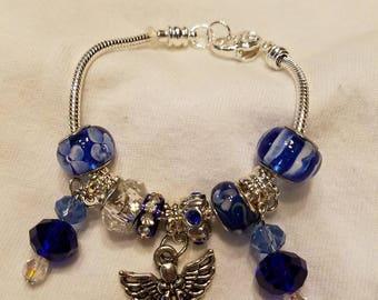 Angel Bracelet in Cobalt Blue