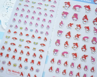 Limited Stock 2 Sheets / My Melody Stickers