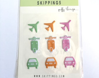 Skipping5 Puffy Stickers