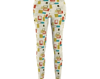 Abstract Line And Square Leggings