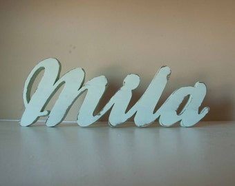 Baby Name Wood Sign- Nursery, Custom Wood Name, Home Decor