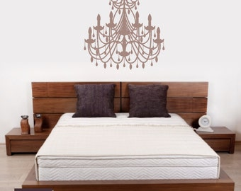 Chandelier vinyl wall decal 19 x 32 inches ch04 chandelier wall decals chandelier decal wall decal room decor aloadofball Choice Image