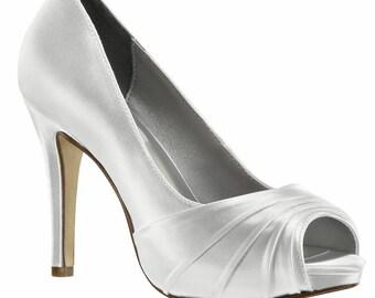 Wedding Shoes - Pumps Custom Dyed Wedding Shoes - Custom Bridal Shoes  High Heel Bridal Shoes -Wedding Heels Custom Shoes Dyed For You Shoes