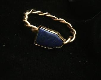 Handmade Lapis and Copper Bracelet
