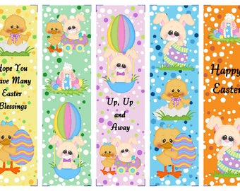 Set of 5 Easter Pal Book Marks