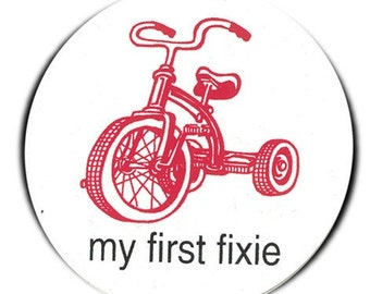 my first fixie tricycle sticker