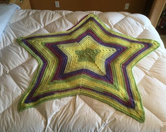 Star crocheted blanket