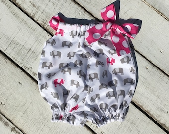 Baby Elephant Romper, Toddler Bubble Romper, Baby Shower Gift