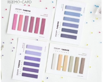 Colorful Sticky Tabs Bookmarks Sticky Notes School Supply