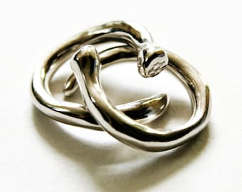 Sweet Wrap sterling silver ring, made-to-order (Evolution)