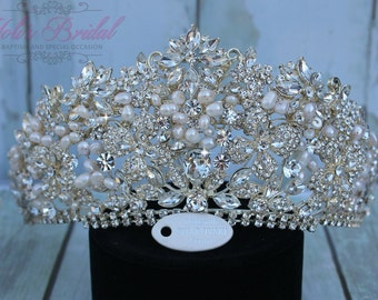 Swarovski Tiara, QuinceaneraTiara, Crystal Tiara ,Wedding Tiara ,Crown , Princess Tiara, Quinceanera, Crystal Headpiece, Corona, XV Tiara