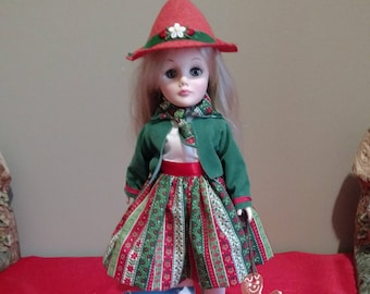 """1983 Effanbee Storybook Doll GRETEL, with tag and box 11"""" tall #1195"""