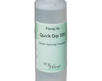 TCG Floral FloraLife QuickDip Instant Hydration Solution for Fresh Flowers Arrangements 16.9 ounce 500ml bottle