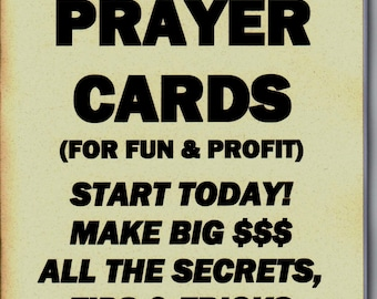 how to make and sell prayer cards for fun or profit